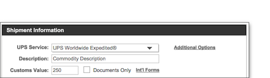then check the box on the international tab that indicates you will be preparing your own documents